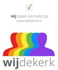 wij staan vermeld op www.wijdekerk.nl - wijdekerk